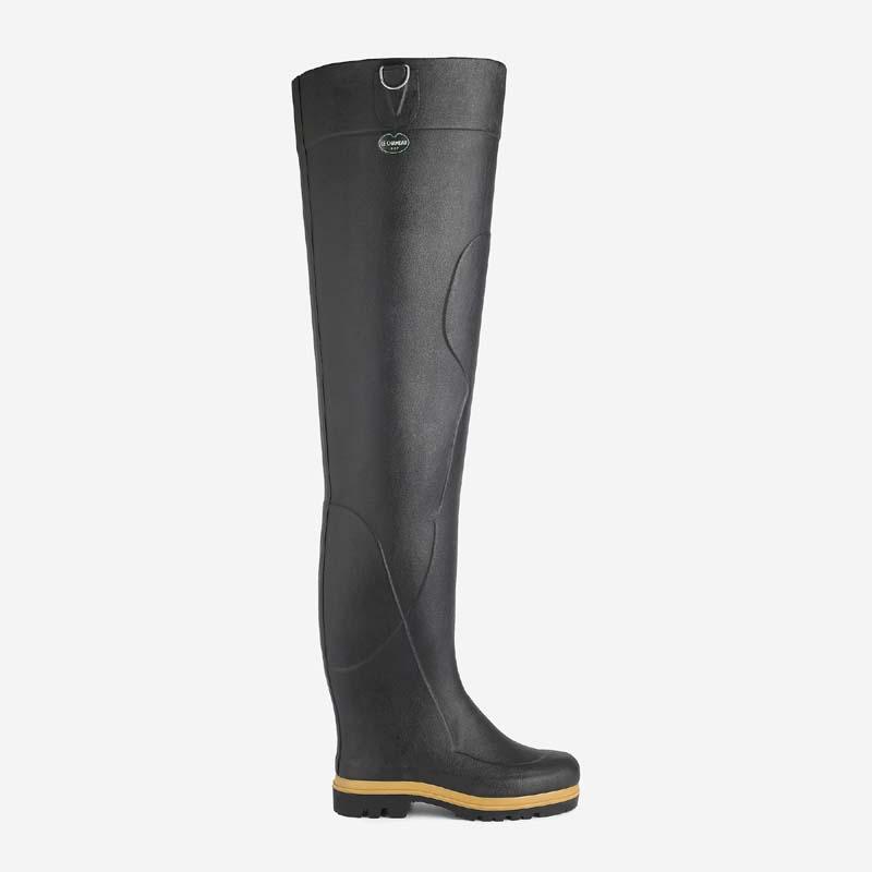 Damen Watstiefel Le Chameau Oceane aus Naturkautschuk für in schwarz, 35 bis 42 - 1