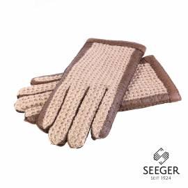 Original Karlsbader Handschuh mit Pecary Leder und Strickhände aus Wolle, 8,5 - 1