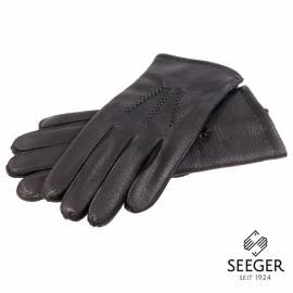 Seeger Herren Hirschleder Handschuhe CHRONOS in schwarz, alle Größen - 1