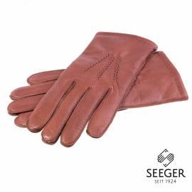 Seeger Herren Hirschleder Handschuhe CHRONOS in braun, alle Größen - 1
