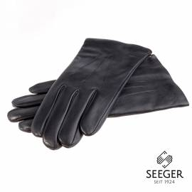 Seeger Herren Handschuhe APOLLON in schwarz, Lammnappa - alle Größen - 1