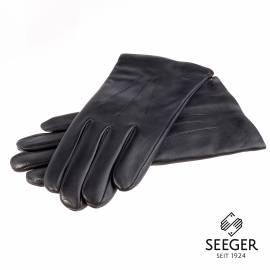 Seeger Herren Handschuhe CUPIDO in schwarz, Kaschmirfutter - alle Größen - 1