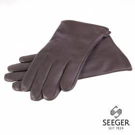 Seeger Herren Handschuhe CUPIDO in dunkelbraun, Kaschmirfutter - alle Größen - 1