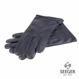 Seeger Herren Handschuhe CUPIDO in dark british navy, Kaschmirfutter - alle Größen - 1