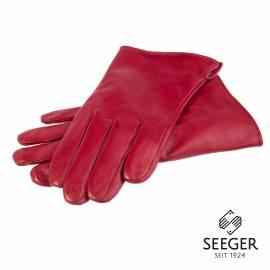 Seeger Herren Handschuhe CUPIDO in rot, Kaschmirfutter - alle Größen - 1