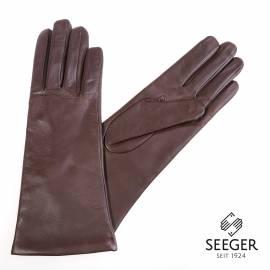 Seeger Damen Handschuhe MINERVA in dunkelbraun, alle Größen - 1