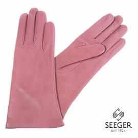 Seeger Damen Handschuhe MINERVA in altrosa, Kaschmirfutter - alle Größen - 1