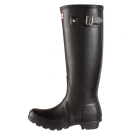 Hunter Women's Original Tall Black Gummistiefel in schwarz - 1