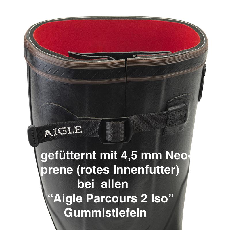 Aigle Parcours 2 Iso schwarz, Gummistiefel - 2