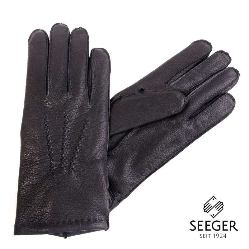 Seeger Herren Hirschleder Handschuhe CHRONOS in schwarz, alle Größen - 2