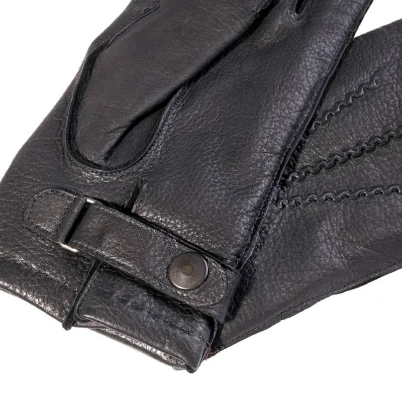 Seeger Herren Hirschleder Handschuhe CHRONOS in schwarz, alle Größen - 3