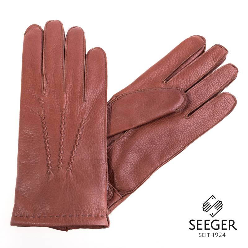 Seeger Herren Hirschleder Handschuhe CHRONOS in braun, alle Größen - 2