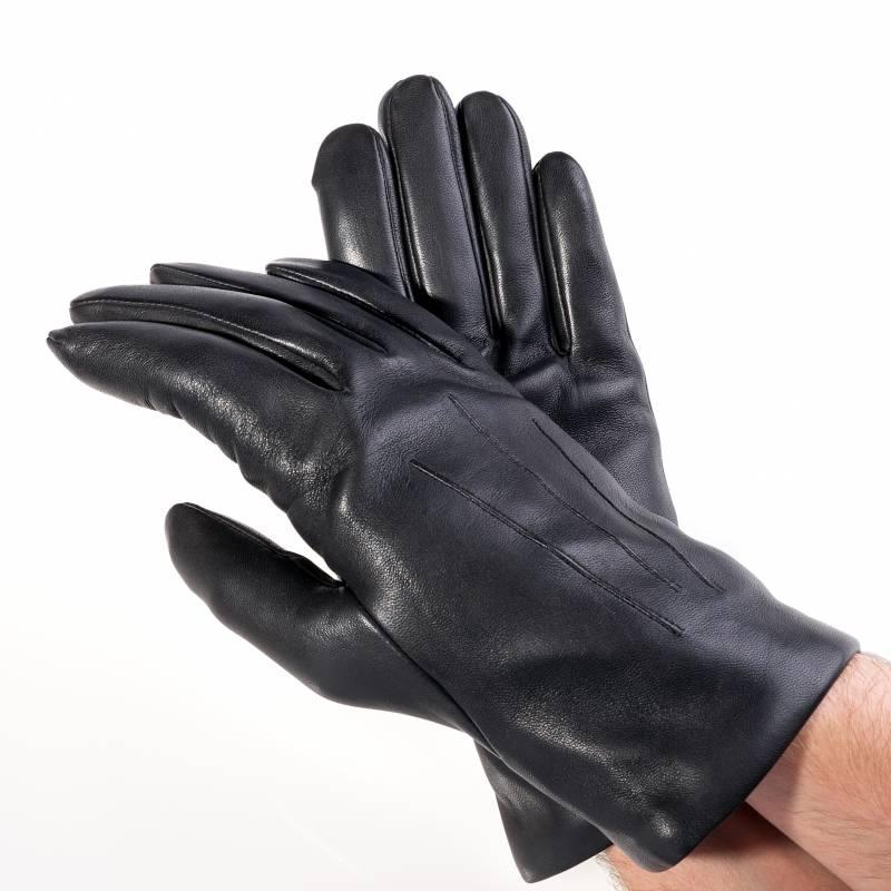 Seeger Herren Handschuhe CUPIDO in schwarz, Kaschmirfutter - alle Größen - 2