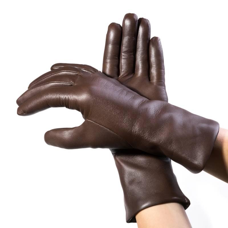 Seeger Damen Handschuhe MINERVA in dunkelbraun, alle Größen - 2