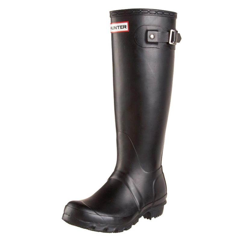 Hunter Women's Original Tall Black Gummistiefel in schwarz - 2
