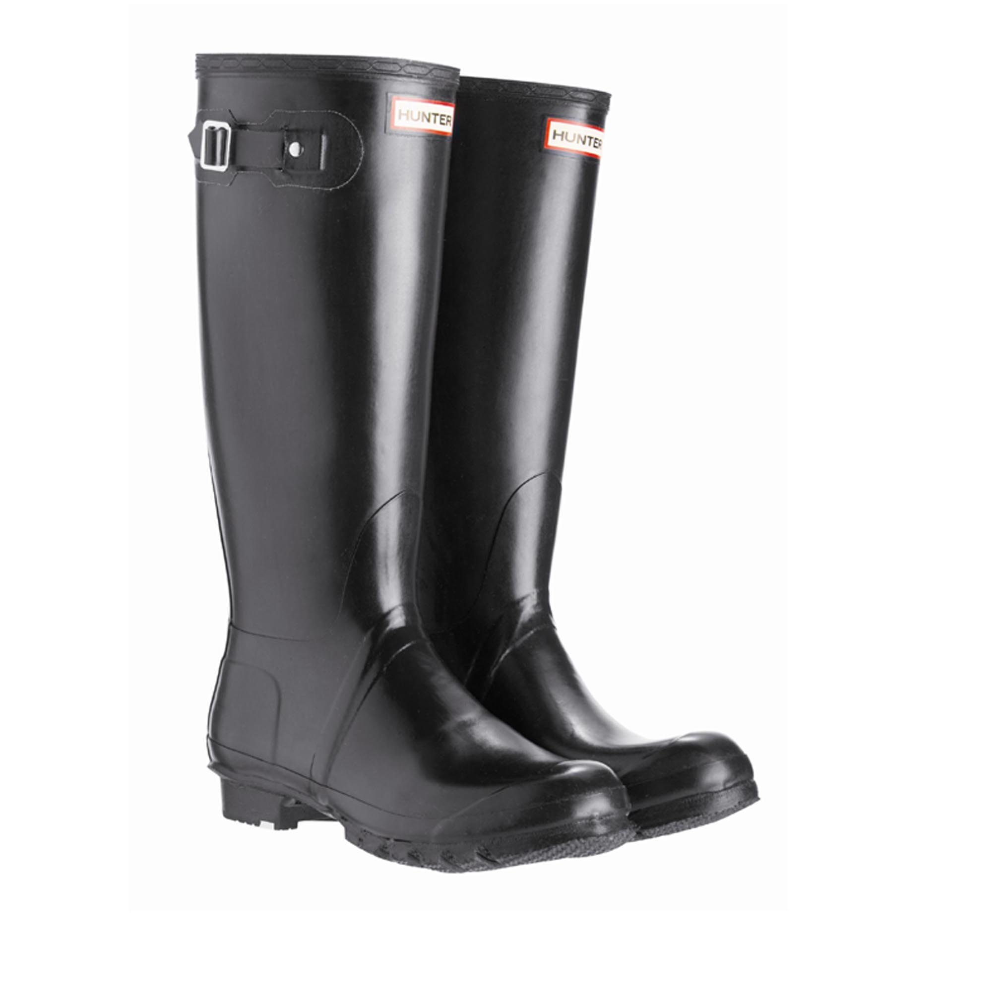 Hunter Women's Original Tall Black Gummistiefel in schwarz